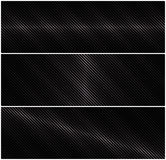 3 abstract vector horizontal banner with metal grid on a black background. Royalty Free Stock Image