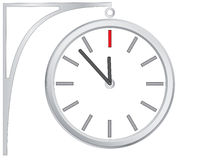 Icon clock, vector. Abstract vector icon of hours from metal Royalty Free Stock Photography