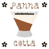 Vector illustration for sweet panna cotta. Abstract vector icon illustration logo for jelly coffee panna cotta. Jelly pattern consisting of natural design sweet Stock Images