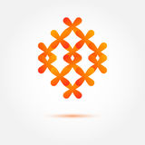 Abstract vector icon made of crosses Royalty Free Stock Photos