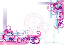 Abstract vector illustration. Circles abstract modern vector composition illustration backgound Stock Image