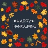 Abstract Vector Illustration Autumn Happy Thanksgiving Background Stock Photo