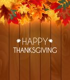 Abstract Vector Illustration Autumn Happy Thanksgiving Background. With Falling Autumn Leaves. EPS10 vector illustration