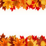 Abstract Vector Illustration Background with Falling Autumn Leav Royalty Free Stock Photo