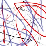 Abstract Vector illustration background of lines curves Stock Images