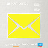 Abstract Vector illustration background mail icon Royalty Free Stock Photography