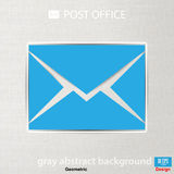 Abstract Vector illustration background mail icon Royalty Free Stock Photos