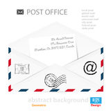 Abstract Vector illustration background mail icon Royalty Free Stock Photo