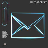 Abstract Vector illustration background mail icon Stock Photos