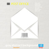 Abstract Vector illustration background mail icon Royalty Free Stock Image