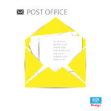 Abstract Vector illustration background mail icon Stock Photo