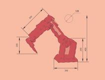 Abstract Vector illustration background Robotics Royalty Free Stock Photos