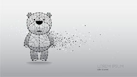 Abstract vector illustration of bear Stock Photography