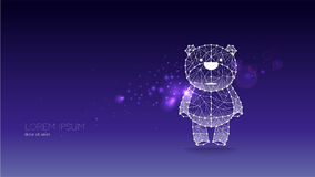 Abstract vector illustration of bear Stock Photo