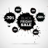Abstract Vector Illustration Black Friday Sale for Royalty Free Stock Photo