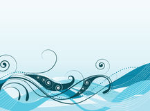 Abstract vector illustration of colored waves royalty free stock photography
