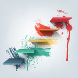 Abstract vector Illustration. Composition of 3d Royalty Free Stock Photography