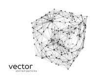 Abstract vector illustration of cube Royalty Free Stock Photos