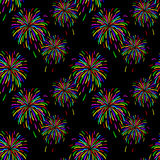 Abstract vector illustration of fireworks Stock Image
