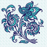 Abstract vector illustration of floral. Abstract illustration of beautifull decorative flowers Stock Image