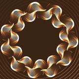 Abstract vector illustration of glowing lines Stock Photos