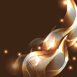 Abstract vector illustration of glowing lines Royalty Free Stock Photography