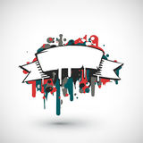 Abstract vector Illustration. Hand drawn banner Royalty Free Stock Images