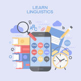 Abstract  vector illustration Learn Linguistics Stock Image
