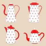 Abstract vector illustration logo for ceramic teapot, kettle on royalty free illustration