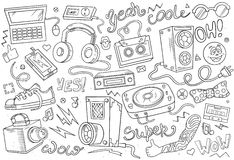 Abstract vector illustration of music Royalty Free Stock Photos
