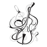 Abstract vector illustration musical instrument Stock Photo