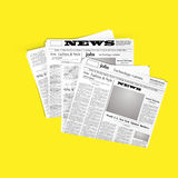 Abstract Vector illustration newspaper icon Royalty Free Stock Photography