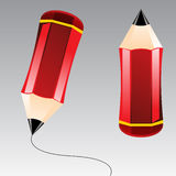 Abstract Vector Illustration Pencil Royalty Free Stock Photography