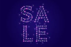 Abstract vector illustration of SALE wording. Royalty Free Stock Photography