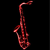 Abstract Vector illustration Saxophone music Royalty Free Stock Photo