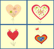 Abstract vector illustration set of hearts Stock Photo