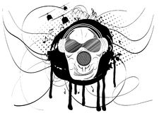 Abstract vector illustration of a skull Royalty Free Stock Images