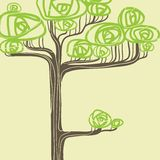 Abstract vector illustration of stylized green Royalty Free Stock Photo