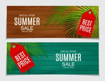 Abstract Vector Illustration Summer Sale Background Stock Photography