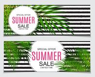 Abstract Vector Illustration Summer Sale Background Royalty Free Stock Images