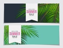 Abstract Vector Illustration Summer Sale Background Stock Image