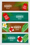 Abstract Vector Illustration Summer Sale Card Set  Background. EPS10 Stock Photo
