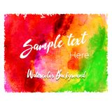 Abstract vector illustration watercolor background. Colorful elements. Abstract vector illustration watercolor background. Colorful elements for your design Stock Photography