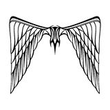 Abstract vector illustration wings tattoo black white Royalty Free Stock Photography