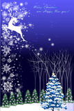 Abstract vector illustrations of christmas geeting card with reindeer - vector eps10 Stock Photo