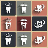 Abstract Vector illustrations of teeth. Stock Photo