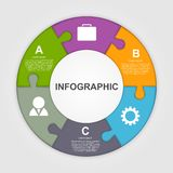 Abstract vector infographic. Design elements. Royalty Free Stock Photo