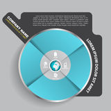 Abstract vector infographic disc for company Royalty Free Stock Photos