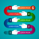 Abstract vector infographic template in flat style for layout workflow scheme, numbered options, chart or diagram.  Stock Photography