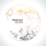 Abstract vector kleurrijk gebied Futuristische technostijl In achtergrond voor bedrijfspresentaties Vliegende driehoeken Stock Afbeelding